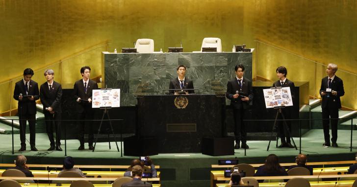 Гурт BTS на засіданні ООН побив рекорди Ґрети Тунберг, Леонардо Ді Капріо та Емми Вотсон